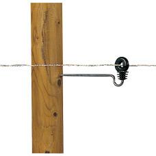 Aislador de rosca madera de 20 cm 10 UDS.