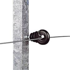 Aislador con tuerca de 6 mm poste metálico