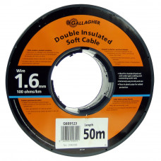 Cable doble aislado de 1,6 mm (rollo 50 m)
