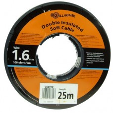 Cable doble aislado de 1,6 mm (rollo 25 m)