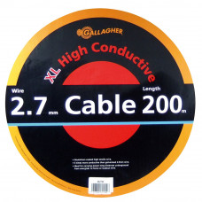 Cable doble aislado de 2,7 mm (rollo 200 m)