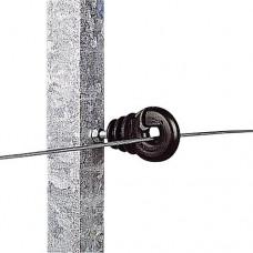Aislador con tuerca de 5 mm poste metálico 25 UDS.