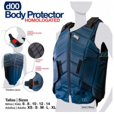 CHALECO PROTECTOR SEGURIDAD BODY HOMOLOGADO D00 AZUL