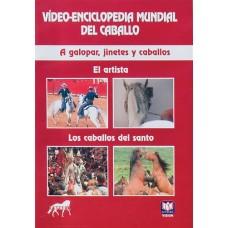 DVD VÍDEO-ENCICLOPEDIA MUNDIAL DEL CABALLO. A GALOPAR, JINETES Y CABALLOS. EL ARTISTA. LOS CABALLOS
