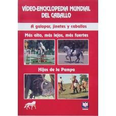 DVD VÍDEO-ENCICLOPEDIA MUNDIAL DEL CABALLO. A GALOPAR, JINETES Y CABALLOS. MÁS ALTO, MÁS LEJOS, MÁS