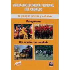 DVD VÍDEO-ENCICLOPEDIA MUNDIAL DEL CABALLO. A GALOPAR, JINETES Y CABALLOS. PURAGUERRAS. UM CAVALO CO